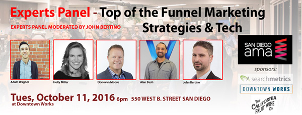 EXPERTS PANEL: Top of the Funnel Marketing – Strategies and Tech